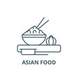 asian food line icon asian food outline vector image