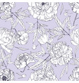 beautiful peonies seamless pattern blossom vector image