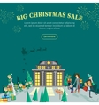 Big Christmas Sale Flat Design Web Banner vector image vector image