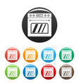 big gas oven icons set color vector image vector image