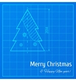 Blue print vector image vector image
