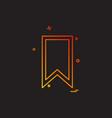 bookmark tag icon design vector image