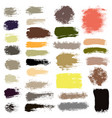brush strokes set 16 vector image vector image