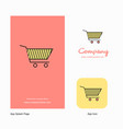 cart company logo app icon and splash page design vector image vector image