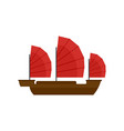 china ship icon flat style vector image