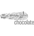 chocolate the gift from the gods vector image vector image