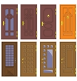 Classic interior and front wooden doors vector image