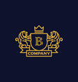 coat arms letter b company vector image vector image