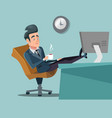 coffee break businessman relaxing vector image vector image