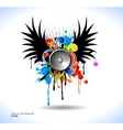colour grunge poster vector image vector image