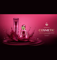 cosmetic bottles mock up perfume and cream tubes vector image vector image