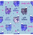 Cute Cats Seamless Background vector image vector image