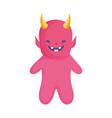 devil costume icon trick or treat happy halloween vector image