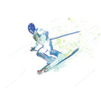 down hill skiing vector image vector image