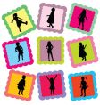 family stamps vector image vector image
