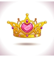 Fancy golden princess crown vector image vector image