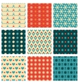 fashionable and cute patterns vector image vector image