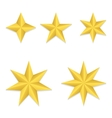 Five different stars vector image vector image