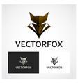fox symbol vector image vector image