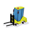funny cartoon loader equipment for the warehouse vector image