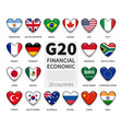 g20 group twenty countries and membership vector image vector image