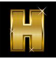 Golden font type letter H vector image vector image