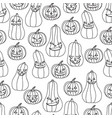 halloween seamless background pumpkin with vector image vector image