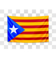 hanging flag catalonia catalonia referendum vector image
