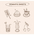 Heart shaped sweets collection vector image vector image