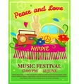 Hippie music festival poster vector image vector image