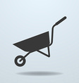 Icon of Wheelbarrow vector image