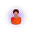 Indian woman in traditional Indian sari icon vector image vector image