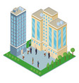 isometric office buildings vector image vector image