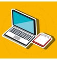 laptop isometric isolated icon design vector image vector image