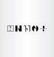 letter n set collection black icon logo elements vector image vector image