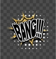 Lettering Bang Gold sparkle comic text vector image vector image