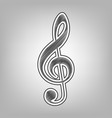 music violin clef sign g-clef treble clef vector image vector image