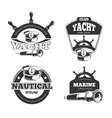 Nautical signs labels and badges vector image vector image