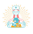 nurse icon linear style vector image vector image