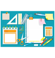 Office Supplies and Stationery Flat Design Objects vector image