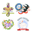 paschal easter holiday icons and symbols vector image vector image
