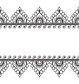 pattern border elements in indian mehndi style vector image vector image