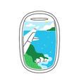 plane illuminator view on seascape scenery vector image vector image