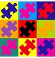 Puzzle piece flat icon vector image vector image