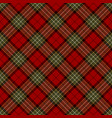 red black brown gold and white plaid vector image vector image