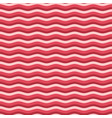red flat wave pattern vector image vector image