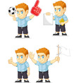 Red Head Boy Customizable Mascot vector image vector image