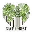 Save forest ecology green postcard vector image vector image