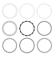 set 9 circle design frames vector image vector image