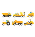 set of industrial transport using on road or vector image vector image